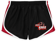 DESERT KAOS LADIES RED AND BLACK EMBROIDERED SHORT