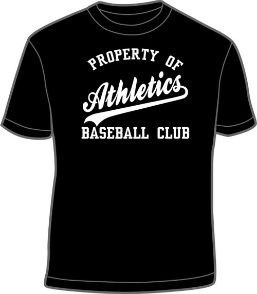 Athletics Black Property Of T-Shirt