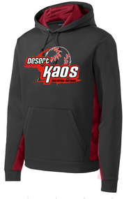 DESERT KAOS ADULT CAMOHEX BLACK/RED COLORBLOCK HOODIE WITH LOGO