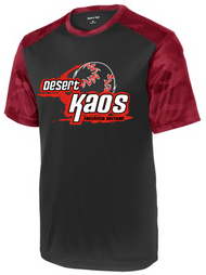 DESERT KAOS ADULT CAMOHEX BLACK/RED COLORBLOCK TEE WITH LOGO