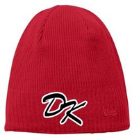 DESERT KAOS NEW ERA RED BEANIE WITH DK