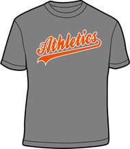 Athletics Charcoal T-Shirt W/ Athletics Logo