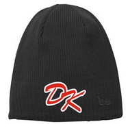 DESERT KAOS NEW ERA BLACK BEANIE WITH DK