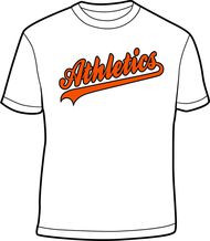 Athletics White Adult Athletics Drifit Shirt