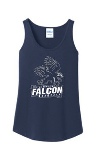 FALCONS NAVY LADIES TANK WITH LOGO