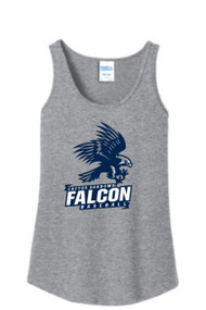 FALCONS GREY LADIES TANK WITH LOGO