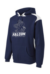 FALCONS ADULT NAVY & WHITE FLEECE HOODIE WITH LOGO