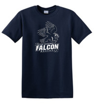 FALCONS ADULT NAVY T-SHIRT WITH LOGO