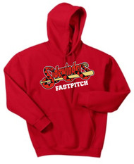Red Hooded Sweatshirt