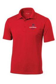 CENTENNIAL ADULT RED SPORT TEK DRY FIT POLO WITH EMBROIDERED LOGO