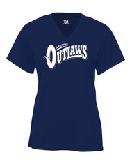AZ OUTLAWS NAVY V-NECK JERSEY