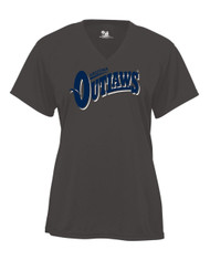 AZ OUTLAWS GRAPHITE V-NECK JERSEY