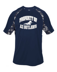 "AZ OUTLAWS NAVY ""PROPERTY OF"" PRACTICE SHIRT"