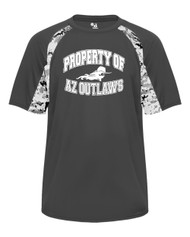 "AZ OUTLAWS GRAPHITE ""PROPERTY OF"" PRACTICE SHIRT"