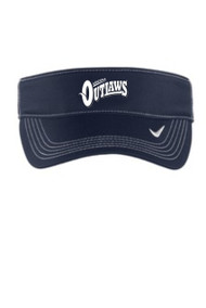 AZ OUTLAWS NIKE VISOR WITH LOGO AND NUMBER
