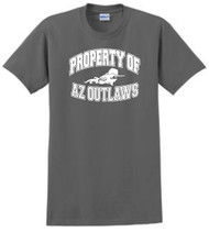 "AZ OUTLAWS ""PROPERTY OF"" ADULT FAN T-SHIRT"