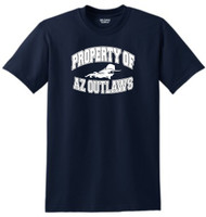"AZ OUTLAWS ""PROPERTY OF"" YOUTH FAN T-SHIRT"