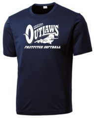"AZ OUTLAWS ""FULL LOGO "" YOUTH SPORT TEK DRY FIT SHIRT"