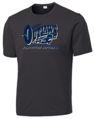 "AZ OUTLAWS ""FULL LOGO"" ADULT SPORT TEK DRY FIT SHIRT"