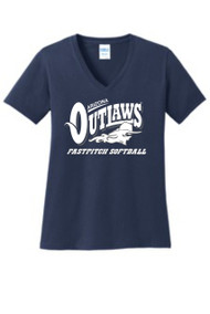 AZ OUTLAWS LADIES V-NECK T-SHIRT