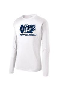 "AZ OUTLAWS ""FULL LOGO "" YOUTH SPORT TEK LONG SLEEVE DRY FIT SHIRT"