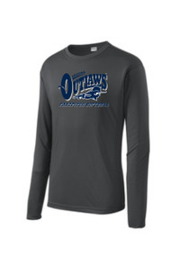 "AZ OUTLAWS ""FULL LOGO"" ADULT LONG SLEEVE SPORT TEK DRY FIT SHIRT"