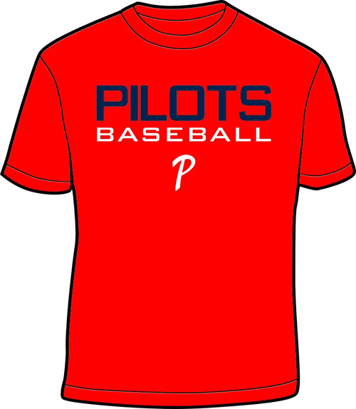 Red Pilots Baseball Tee