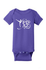 PRIMA DANCE INFANT PURPLE SHORT SLEEVE BABY RIB BODYSUIT