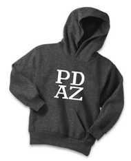 PRIMA DANCE DARK HEATHER GREY YOUTH FLEECE HOODIE