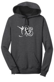PRIMA DANCE HEATHER CHARCOAL JUNIOR FLEECE HOODIE