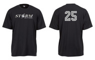 STORM BLACK ADULT DRIFIT SHIRT WITH DIGI CAMO LOGO, NUMBER & FLAG