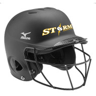 STORM BATTING HELMET WITH LOGO AND NUMBER