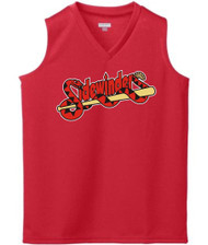 SIDEWINDERS GIRLS RED JERSEY WITH LOGO, NAME AND NUMBER