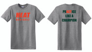 WEST VALLEY HEAT GRAPHITE HEATHER TEE WITH FRONT AND BACK LOGO
