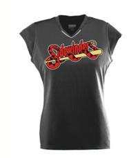 SIDEWINDERS LADIES BLACK JERSEY WITH LOGO, NAME AND NUMBER