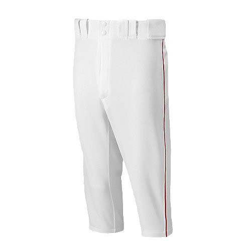 WHITE WITH RED PIPING