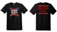 COOPERSTOWN ADULT & YOUTH BLACK T-SHIRT WITH LOGO