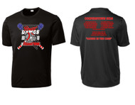 COOPERSTOWN BLACK ADULT AND YOUTH SPORT TEK DRYFIT SHIRT WITH LOGO