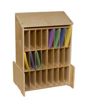 C990655F Sign-In Center with 3 Shelves