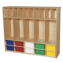 WD990316AT Five Section Locker with Assorted Trays