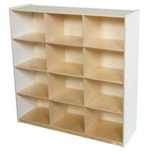 WD50912WHT (12) White Cubby Storage