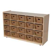 WD14589-718 Tip-Me-Not™  20 Tray Storage with Baskets