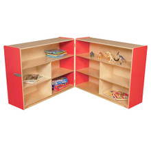 "WD13730R Strawberry Red™ Folding Versatile Storage Unit, 38""H"