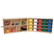 WD14603 Half & Half Folding Storage with (20) Assorted Trays
