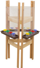 WD18623BN 3-Sided Easel with Acrylic & Brown Trays