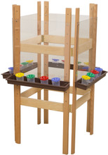 WD19123BN 4 Sided Easel with Acrylic & Brown Trays