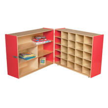 WD23639R Strawberry Red™ Tray & Shelf Fold Storage without Trays