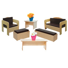WD31690BN Children's Furniture set of (6) with Brown Cushions