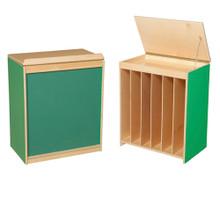 WD34100G Green Apple™ Big Book Storage / Display with Chalkboard