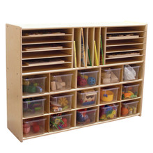 "C14001F Multi-Storage w/15 Translucent Trays, 33-7/8""H, Assembled"